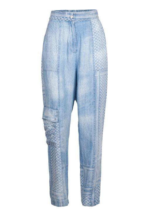 lala Berlin - Pants in sunbleached Kufiya
