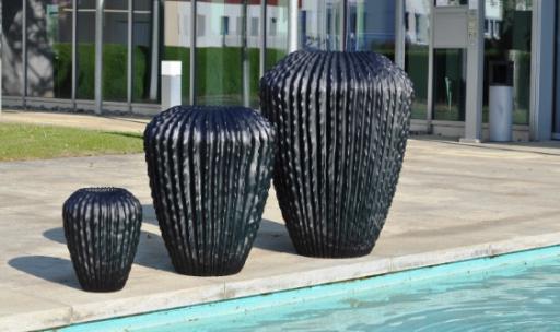 Spiller Keramik - Hochkübel Cariso antra 65cm