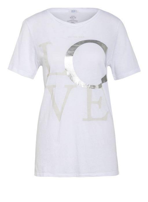 Better Rich - T-Shirt Crew Love weiss