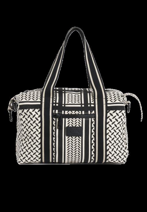 lala Berlin - Small Bag Muriel Off- White/ Black