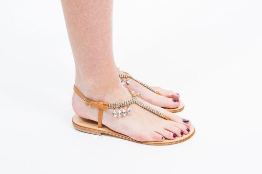 MaxMara - Zehen Sandale mit Schmucksteinen