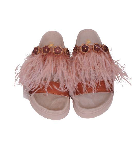 Inuikii - Sandale mit Federbesatz