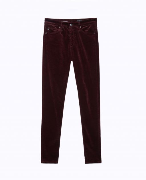 AG Jeans - Bordeaux Samt - The Farrah Skinny