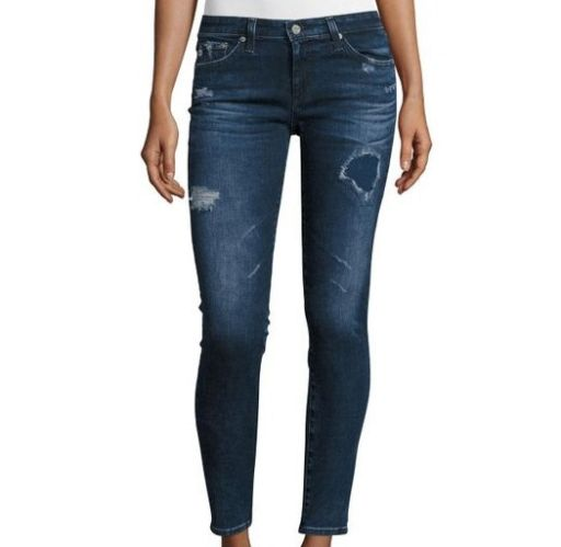 AG Jeans - Legging Ankle 8 Years destroyed blau