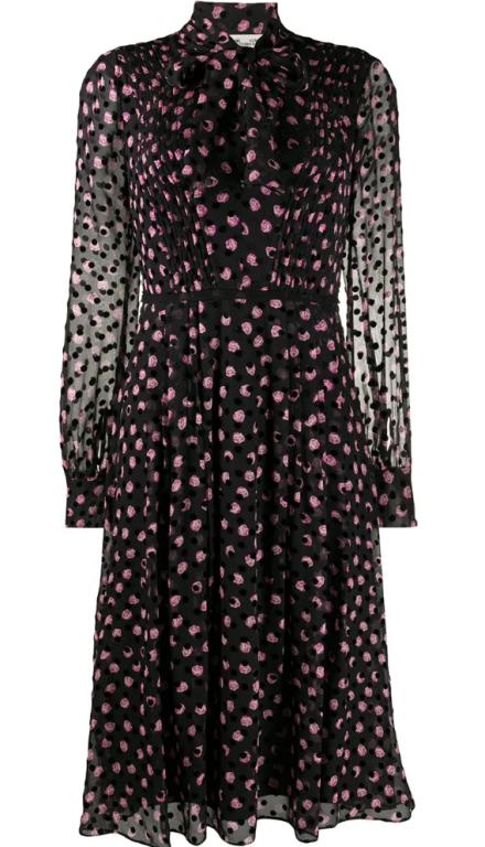 Diane von Furstenberg - Seidenkleid mit Schluppe