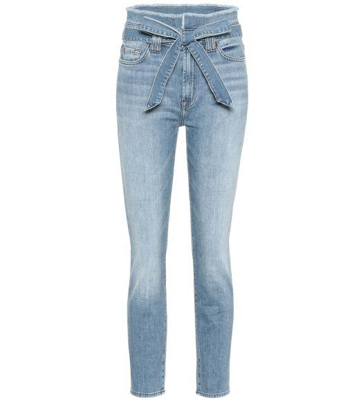 7 For All Mankind - High Waist Jeans mit Gürtel