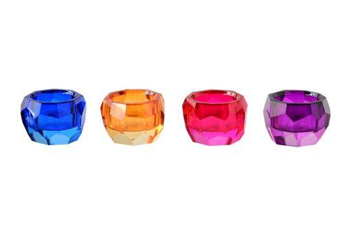 Teelichter Palisades pink, lila, orange, blau