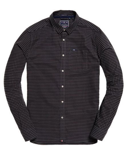 Superdry - Ulitmate Oxford Hemd karo grey
