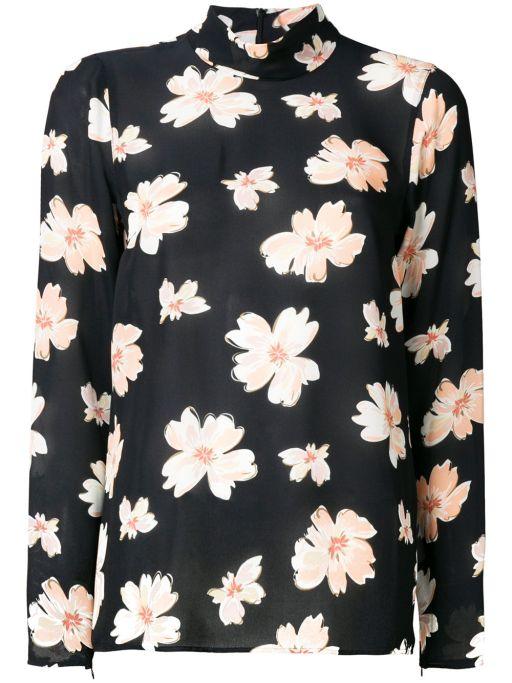 Joseph - Pique Bluse mit floralem Print
