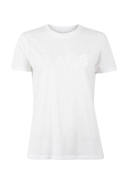 lala Berlin - T-Shirt mit gesticktem Logo weiss