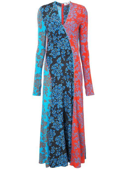 Diane von Fürstenberg - Florales Kleid mit asymmetrischen Schnitt