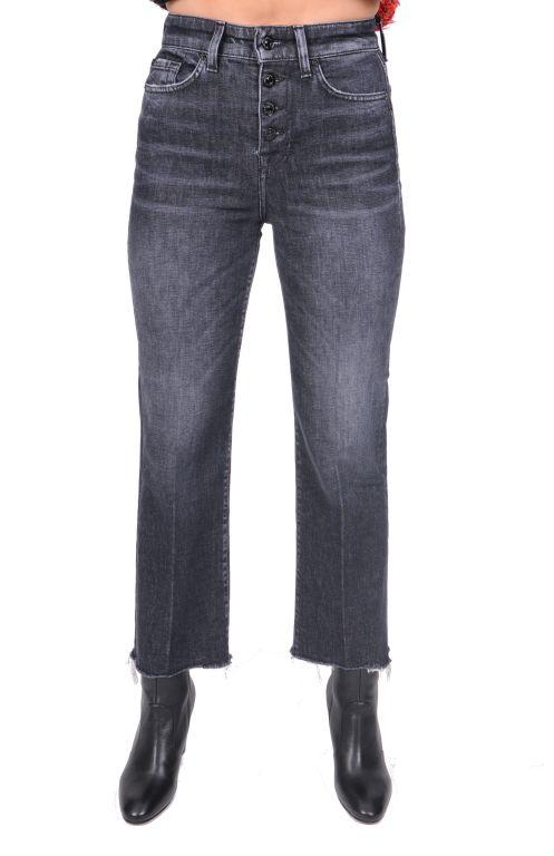 7 For All Mankind - Verkürzte Jeans mit ausgefranstem Saum