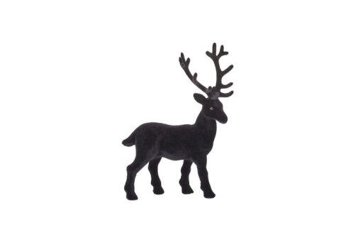 Hirsch geflockt S schwarz