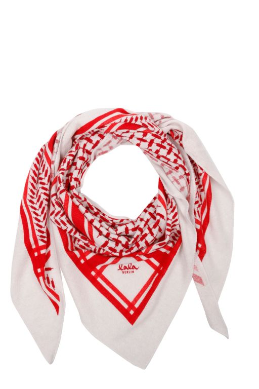 lala Berlin - Triangle Trinity Dreieckstuch Red on Alabastro M