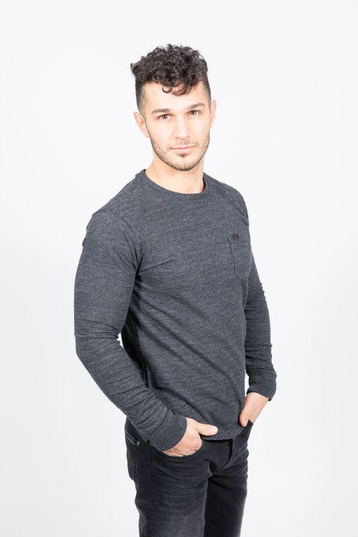 Superdry - Herren Surplus Goods Pocket L/S Shirt grey grit