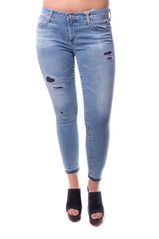 "AG Jeans - knöchellange ""The Legging Ankle"" unterlegt im destroyed Look"
