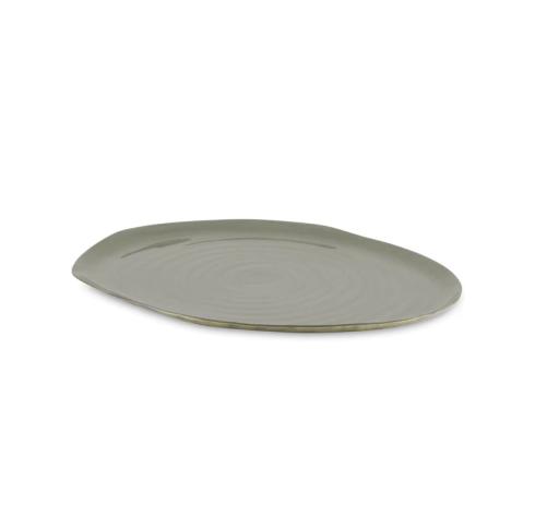 Metall-Tablett grau