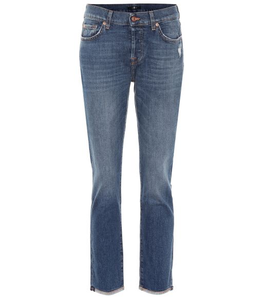 7 For All Mankind - Verkürzte Jeans im Boyfit Style