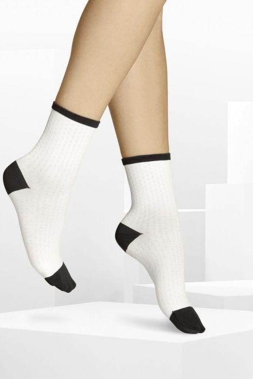 ITEM m6 - Festival Socks schwarz-weiß mit Kontrastbund