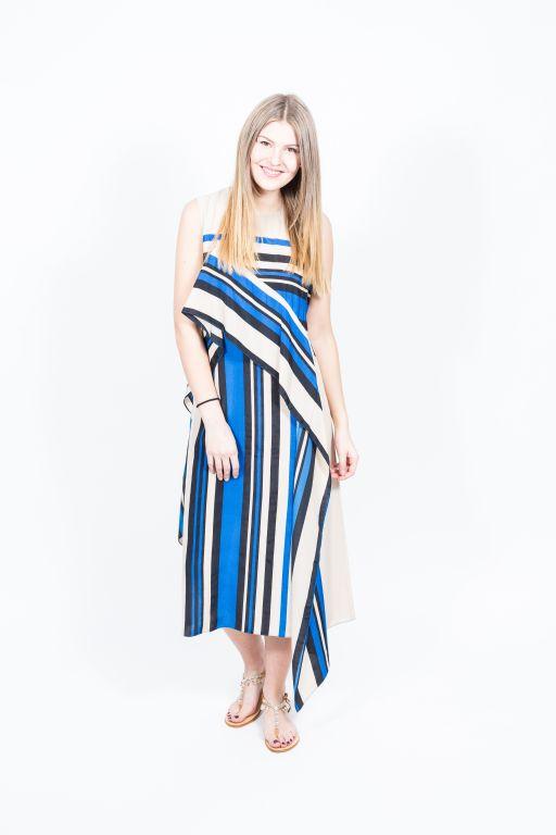 Diane von Fürstenberg - Seiden Kleid mit Streifen