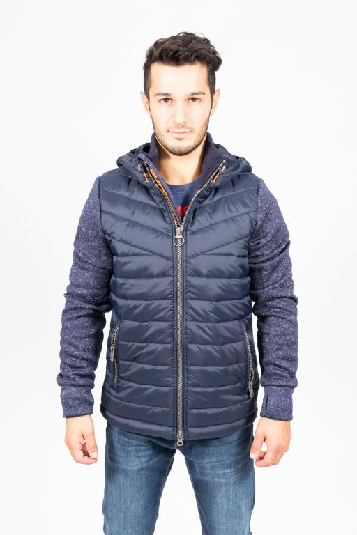 superdry herren storm nybrid ziphood jacke navy herbst. Black Bedroom Furniture Sets. Home Design Ideas