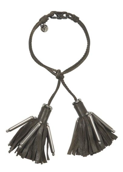 Dorothee Schumacher - Tassel Addiction Lederarmband khaki