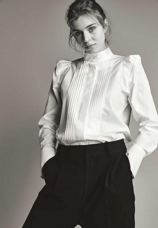 Eva Mann - Bluse mit Biesendetails am Vorderteil