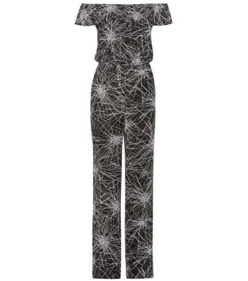 Diane von Fürstenberg - Overall Graphikmuster schwarz weiß Adele