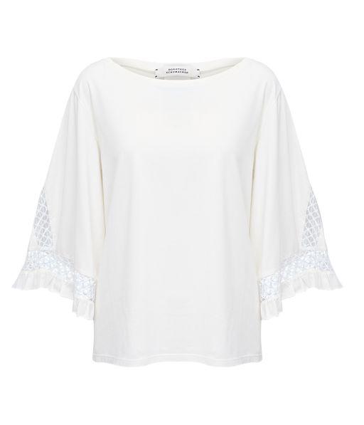 Dorothee Schumacher - Shirt mit Häkeldetails weiß