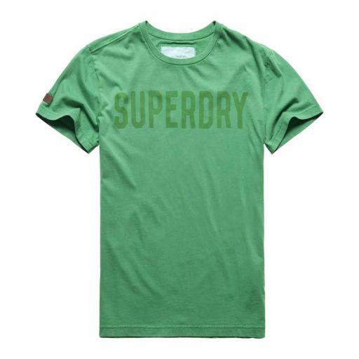 Superdry - Herren Solo Sport S/S felt green