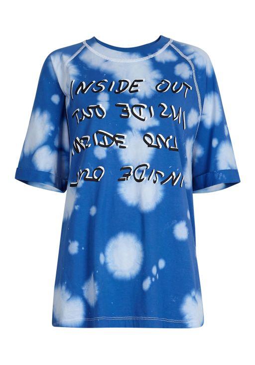 lala Berlin - T-Shirt blue Splash