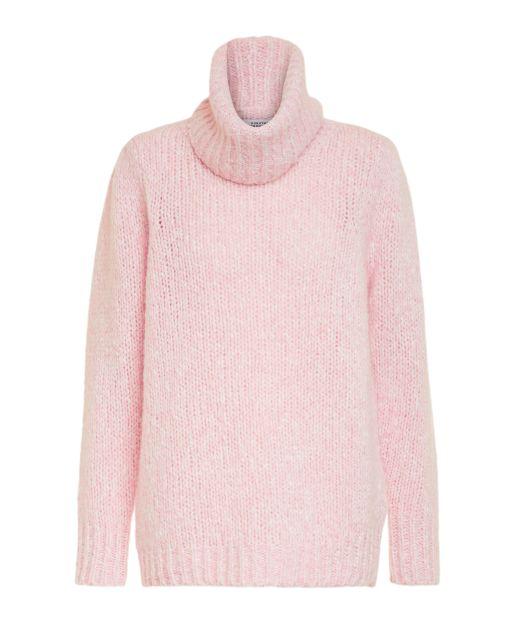 Dorothee Schumacher - Pullover mit einem abnehmbaren Rollkragen rose