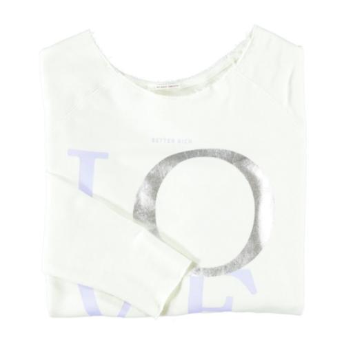 Better Rich - Langarm-Shirt Love weiss