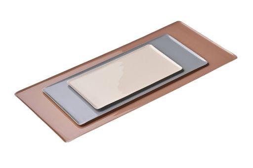 Tablett 3er-Set rouge/ gray/ sandstone