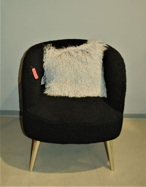 rundlicher Polster Sessel schwarz