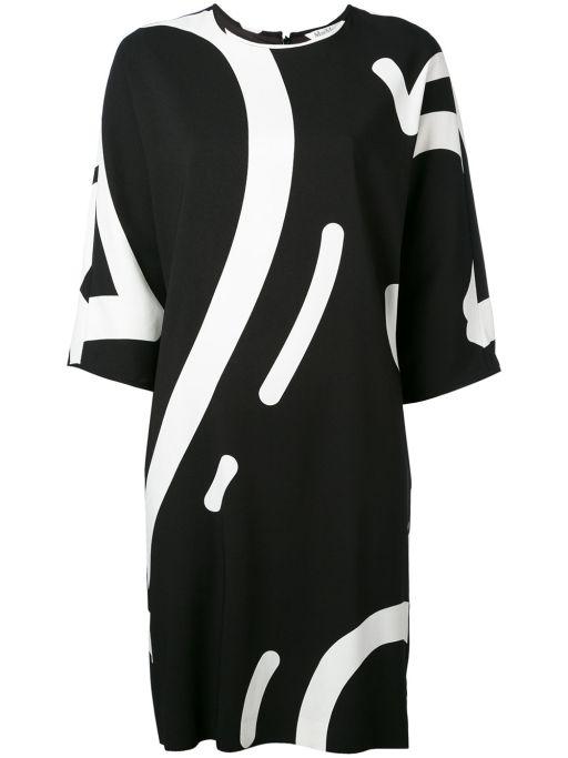MaxMara - Egg Shape Kleid schwarz-weiß