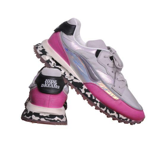 Hidnander - Sneaker Black Marble mit pink