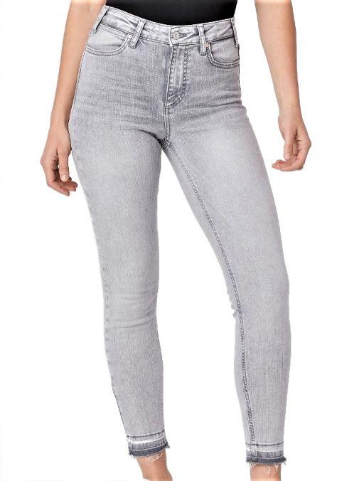 Paige - Graue Vintage Ankle Jeans