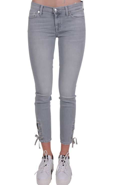 7 For All Mankind - Skinny Slim Illusion mit Ripsband am Saum