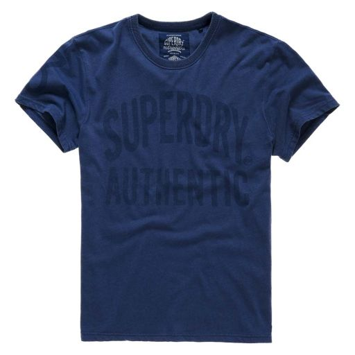 Superdry - Herren Tee Authentic Rebel Tee overdryes deep indigo