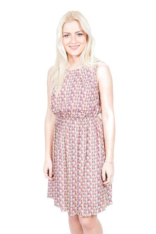 La Fée Maraboutée - Kleid mit buntem Fächerdruck