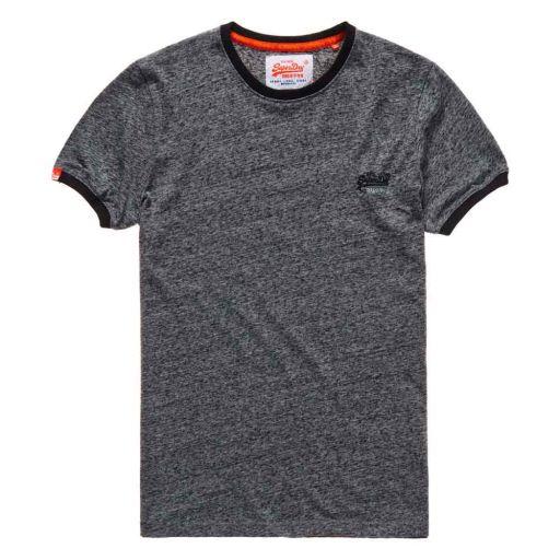 Superdry - Herren Ol Cali Ringer Shirt Flint grey Grit