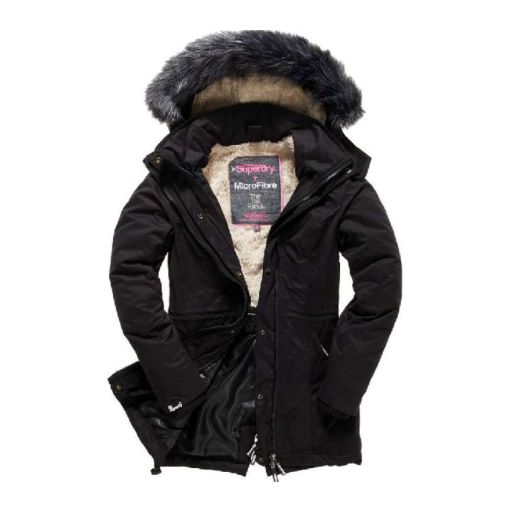 Superdry - Microfibre Tall Parka anthrazit