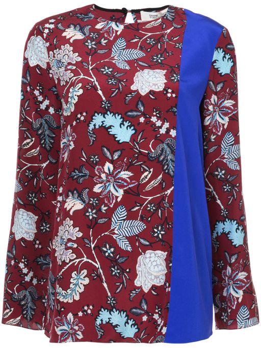 Diane von Furstenberg - Seidenbluse mit Blumenmuster