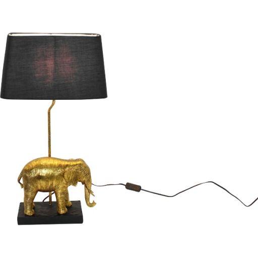 Tischleuchte Elefant gold/ schwarz
