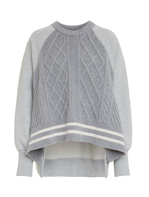 Dorothee Schumacher - Sweatshirt mit Strickvorderteil