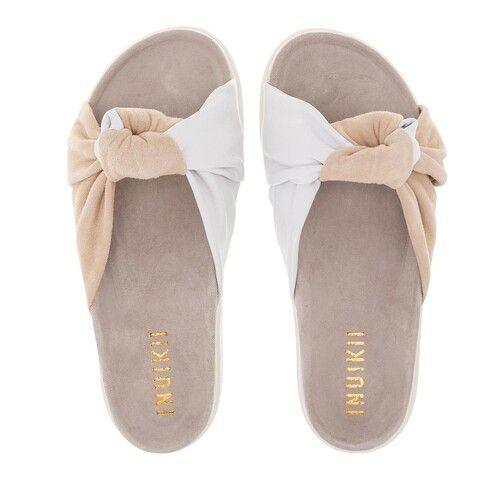 Inuikii - Sandale mit Knoten weiß-beige