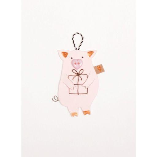 Glücksschweinchen mit Geschenk