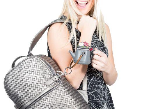 MaxMara - Schlüssel/Taschenanhänger mit Geldfach Gießkanne