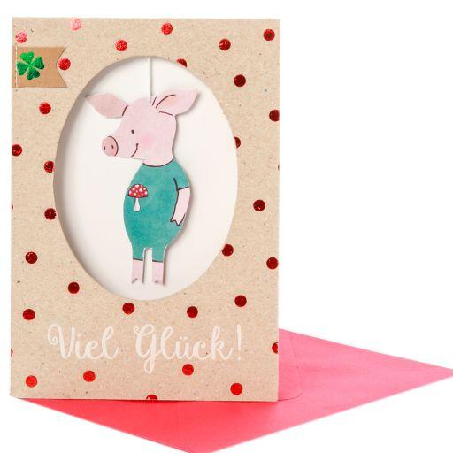 Geburtstagskarte Saubande Viel Glück